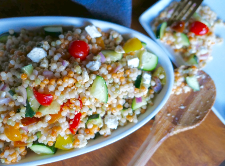 Market Couscous Salad - Slice Of Honey Blog