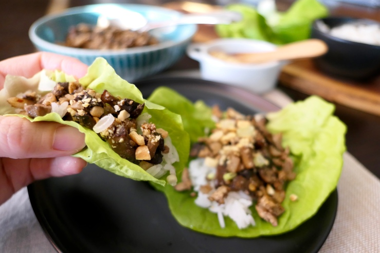 Portobello Lettuce Wraps - Slice Of Honey Blog