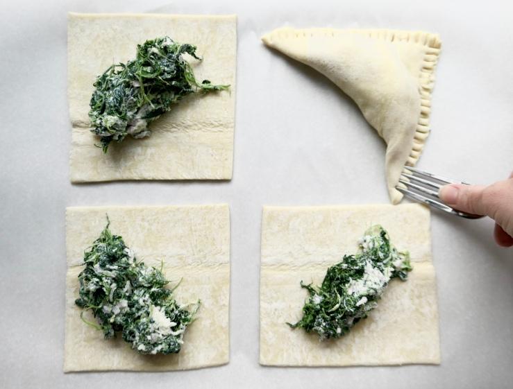 Savory Spinach Turnovers - Slice Of Honey Blog